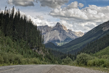Canada Rocky Mountains Panorama