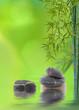 décor relaxant zen asiatique : bambou et galets