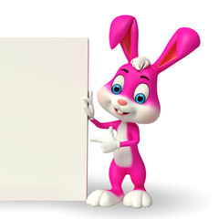 Cute Easter Bunny with sign