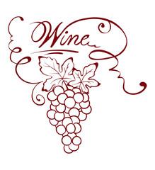 Illustration -- wine title