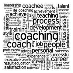 """COACHING"" Theme (performance management talent life tag cloud)"