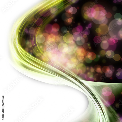 canvas print picture fantastic wave background design with bubbles