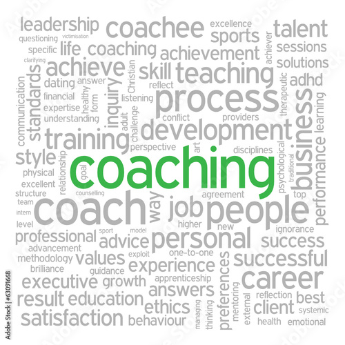 """COACHING"" Tag Cloud (performance management skills talent life)"