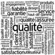 """Nuage de Tags """"QUALITE"""" (qualité totale service client garantie)"""