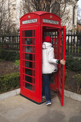 Red phone booth, London.