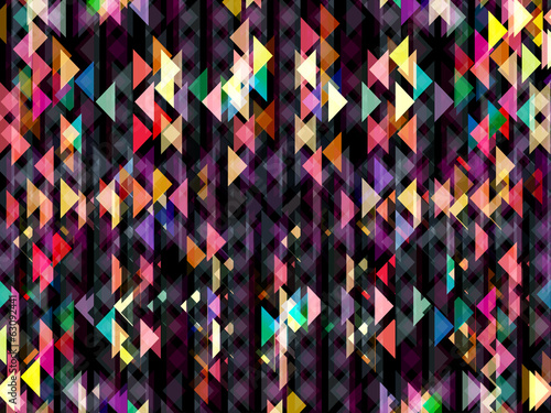 Abstract striped geometric shapes background