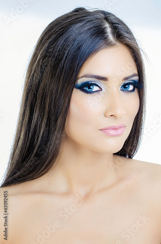 Beautiful girl make-up on