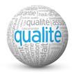 """Globe - Nuage de Tags """"QUALITE"""" (qualité garantie service prix)"""