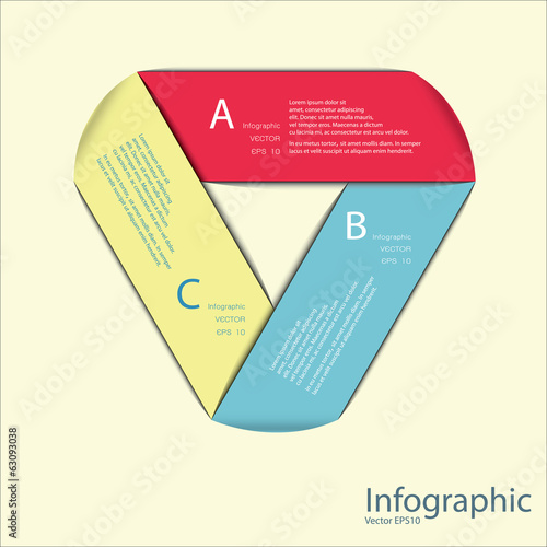 Modern Design template / can be used for infographics / numbered