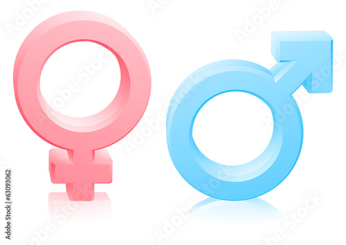 Man woman male female gender signs