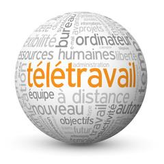 """Globe - Nuage de Tags """"TELETRAVAIL"""" (télétravail management)"""