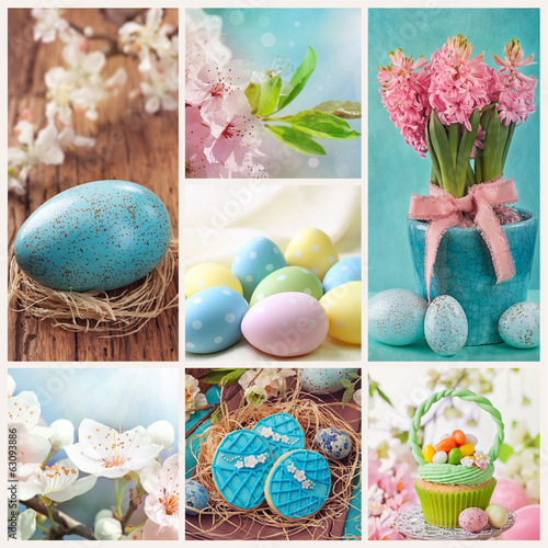 canvas print picture Easter collage