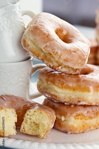Stacked Donuts and Cups