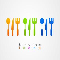 Kitchenware icon fork knife spoon menu web