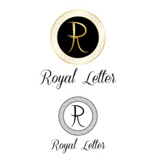 Royal letters logo