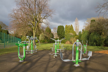 Keep fit equipment in the park