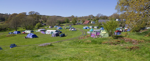 Campsite in Wales, UK.