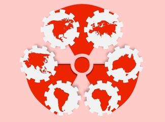nuclear pollution world danger