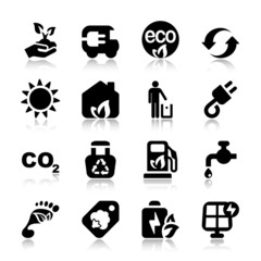 flat icons ecology set1 with reflex