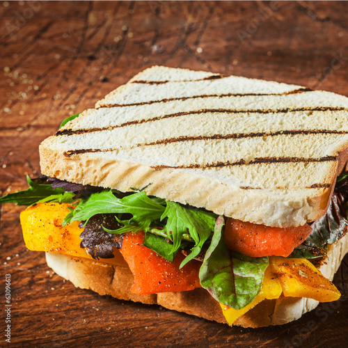 Tasty grilled herb and cheese sandwich