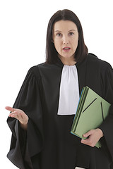 woman lawyer attorneywith file folder or dossier