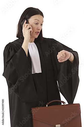woman lawyer attorney checking watch