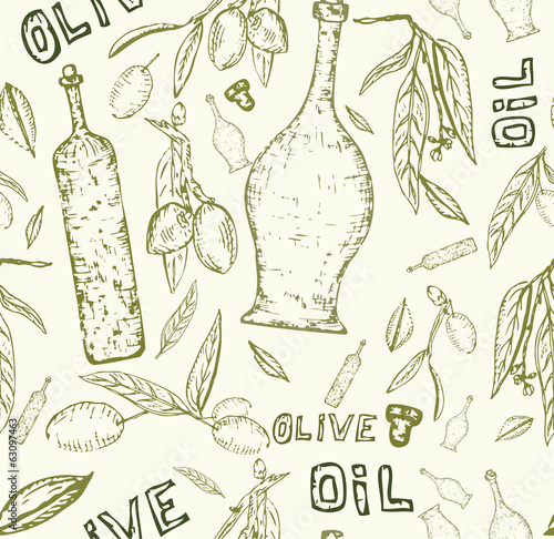 olive oil food design creative artistic seamless texture