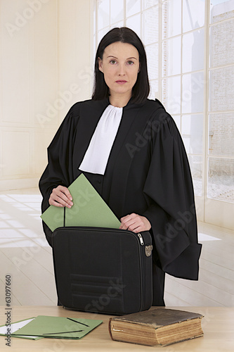 Young woman french  lawyer attorney