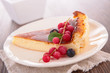 pastry slice and redcurrant