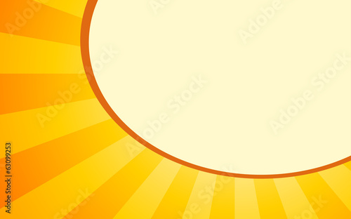 summer orange background with light Rays and balloon