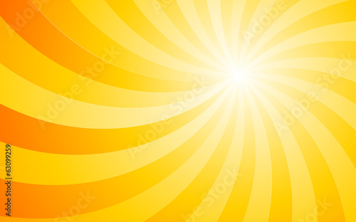 summer orange background with curve light Rays