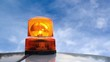 Flashing beacon. Orange flashing and rotating light