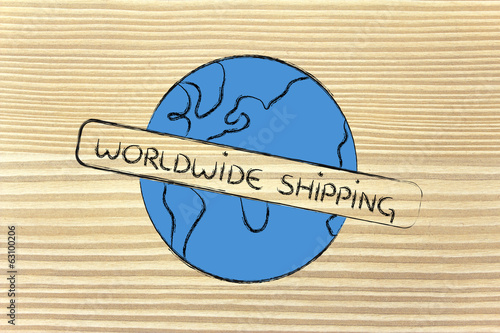 world design with free worldwide shipping