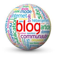 """Globe - Nuage de Tags """"BLOG"""" (réseaux sociaux médias actualités)"""