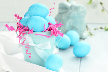 Blue Speckled Easter Eggs