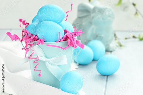 Blue Speckled Easter Eggs