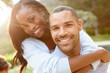 Portrait Of Loving African American Couple In Countryside - 63100872