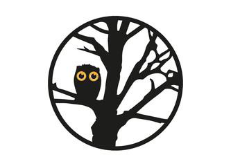 Eule auf Baum