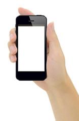 スマートフォンと男性の手