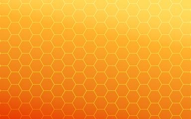 summer gradient orange hexagon background