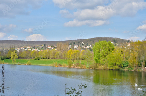 France, the Gallardon pond in Vernouillet