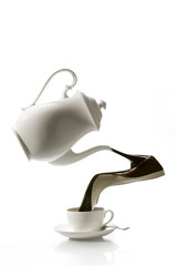 Pouring coffee, can be used in coffee ad`s