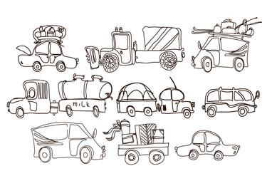 Car set, doodle