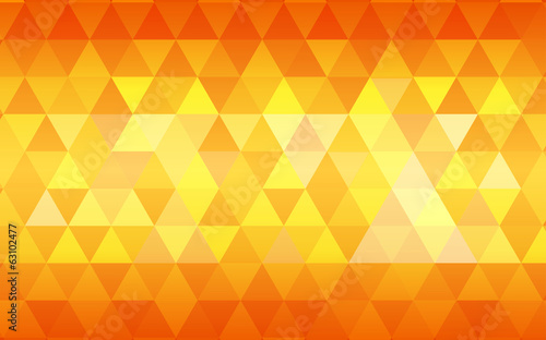 summer gradient orange triangle polygon pattern background