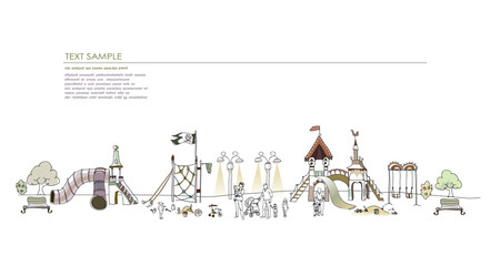 Playground illustration, city collection