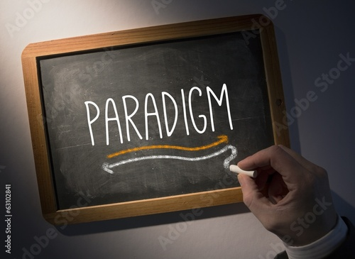 Hand writing Paradigm on chalkboard