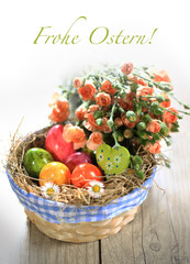 "Osterkorb ""frohe Ostern"""