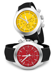 render of 2 watches, isolated on white