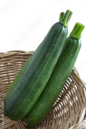 Zucchini in Basket