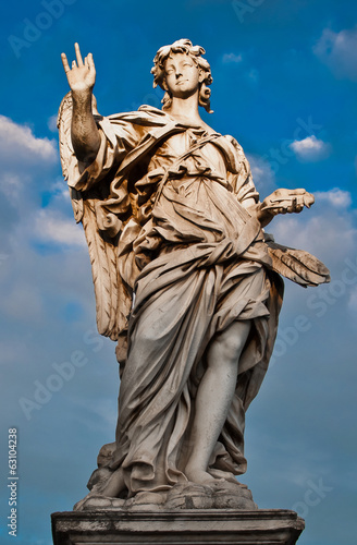 Bernini's marble statue of angel from the Sant'Angelo Bridge in